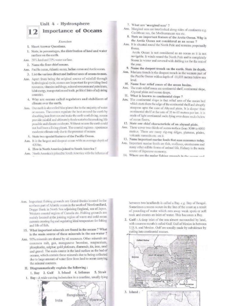 Geography class 9 icse final examination