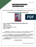 Affichette Auchan Bonbons Bubbles