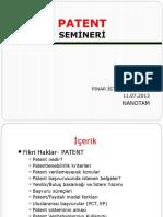 11 07 2013 Patent Semineri
