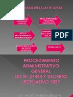 Ley de Procedimientos Administrativos Generales - Perú