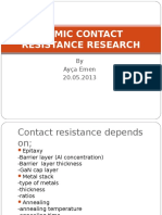 Ohmic Contact Research