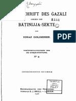 Streitschrift des Gazali gegen die Batinijje-Sekte