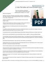 Nawaz Sharif Hopes Indo-Pak Talks Will Move Forward Soon - The Economic Times