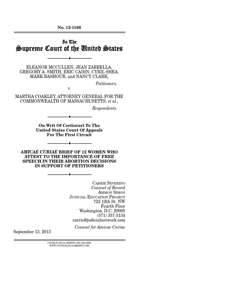 Amicus Brief of 12 Women Who Attest to the Importance of