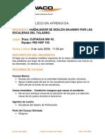 LECCION APRENDIDA Resbalon Escaleras Taladro BP
