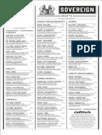 Sovereign Draft List