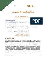 Programme des animations de l'Association les 5 saisons de Colmars