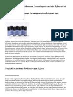 Ätherische Öle - Allesamt Grundlagen und ein Übersicht