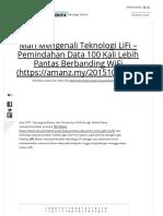 Mari Mengenali Teknologi LiFi – Pemindahan Data 100 Kali Lebih Pantas Berbanding WiFi _ Amanz