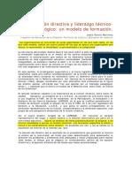 Gestion Institucional Jesus Garcia Martinez Función Directiva y Liderazgo Técnico