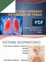 9.- Paciente Post Operado de Cirugia de Torax.
