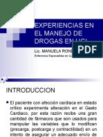17.- Experiencia Manejo de Drogas UCI