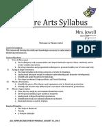 theatre arts syllabus for website