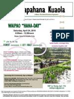 Waipao Work Day