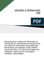 Demodulación o Detección FM