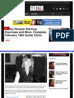 Randy rhoads guitar clinic