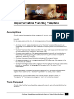 Implementation Planning Template Dg