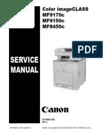 Canon i-sensys mf9100 series. Service manual. Parts catalog.