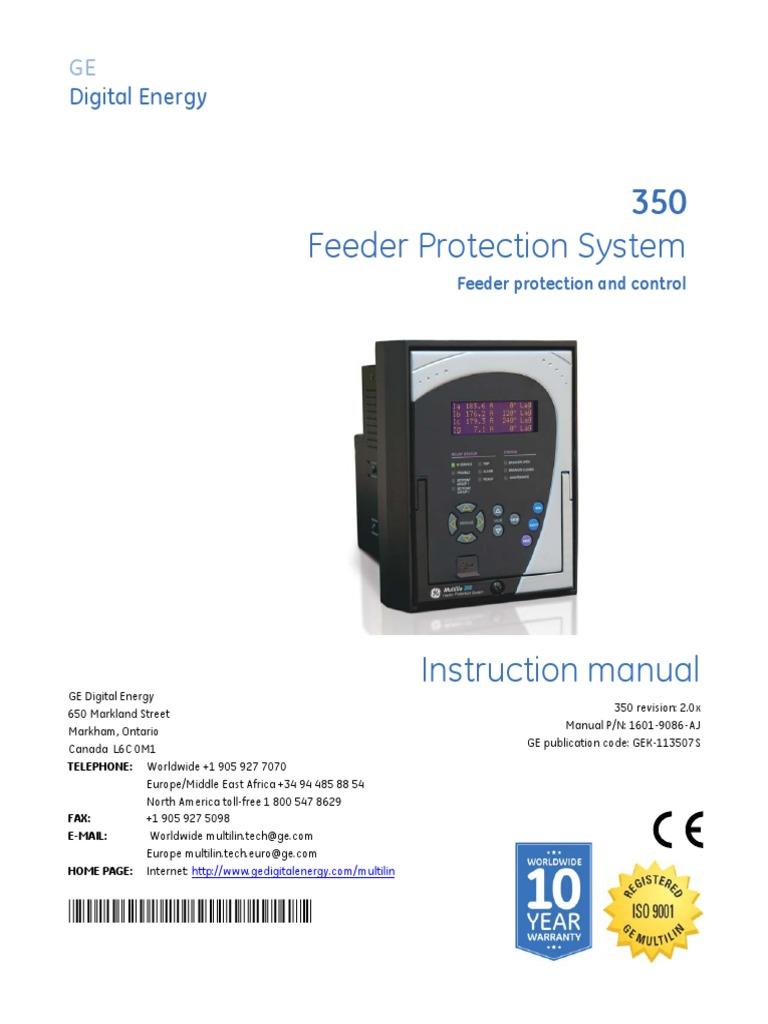 350man aj signal electrical engineering relay rh scribd com Multilin 169 GE Multilin 469 Manual