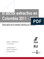 Informe Observatorio Ie 2013 Final SECTOR EXTRACTIVO