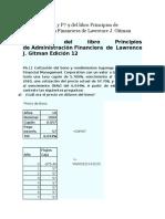 Ejercicios P6 11 y P7 9 Del Libro Principios de Administracion Financiera de Lawrence J