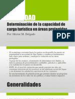 VI UNIDAD -  DETERMINACIÓN DE LA CAPACIDAD DE CARGA TURÍSTICA