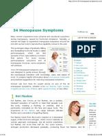 34 Menopause Symptoms PrintJobNameUser