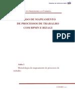 Curso Mapeamento BPMN Bizagi - Aula 1_v 2013