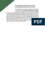 Otorgan Licencia Sindical al Profesor Luis Flores Villavicencio