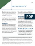 Developing a Farm Business Plan