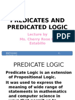 2 Predicates and Predicated Logic
