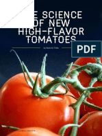 The Science of High Flavor Tomatoes