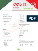 2015 II Matematica