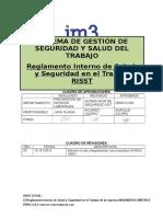 SST-002 Reglamento de Salud y Seguridad en El Trabajo