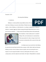 preventing school bullying-exploratory essay 1