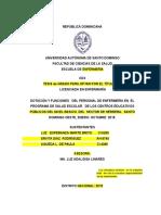 DOTACIÓN Y FUNCIONES   DEL PERSONAL DE ENFERMERÍA EN  EL PROGRAMA DE SALUD ESCOLAR 23-01-2016.docx