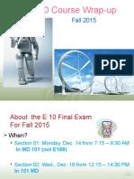 Final Exam Review F15