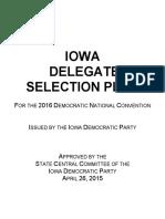 2016 Iowa Democratic Party Delegate Selection Plan