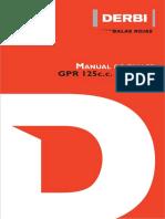 Manual Propietarios Derbi125GPR