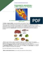 Antioxidante Universal, Vitaminas y Minerales