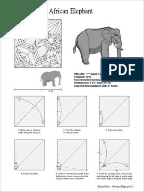 Origami Elephant (Fumiaki Kawahata) 🐘 Amazing Paper Elephant ...   396x298