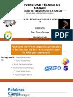 Factores de Transcripción Generales e Iniciación de La Transcripción Por La ARN Polimerasa II