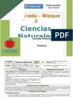 Plan 4to Grado - Bloque 3 Ciencias Naturales (2015-2016)