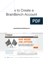 Brainbench Account Signup
