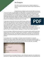 Posicionamiento Web Zaragoza