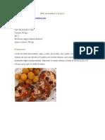 Bifes de Bondiola a La Pizza