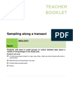 sampling along a transect