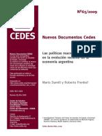 Las políticas macroeconomicas en la evolución reciente de la economía argentina