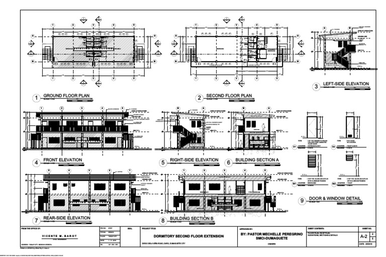 A 2 Floor Plan Roof Plan Elevations Sections Details Framing Construction Building