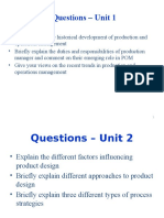 Production and Operations Management MBA Important Questions